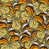 Άνευ ραφής υπόβαθρο σχεδίων του μακρο φτερού πεταλούδων Στοκ φωτογραφία με δικαίωμα ελεύθερης χρήσης