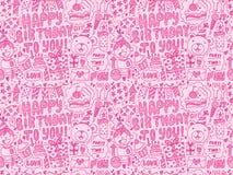 Άνευ ραφής υπόβαθρο σχεδίων γιορτής γενεθλίων Doodle Στοκ Εικόνα