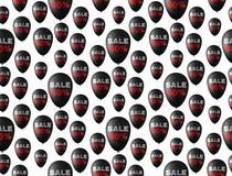 Άνευ ραφής υπόβαθρο σχεδίων με τα μαύρα μπαλόνια Στοκ Φωτογραφίες