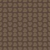 Άνευ ραφής υπόβαθρο σχεδίων με την καρδιά δαντελλών Καφετί χρώμα Στοκ Φωτογραφίες