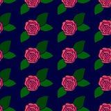 Άνευ ραφής υπόβαθρο σχεδίων λουλουδιών διανυσματικό Στοκ Φωτογραφία