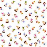 Άνευ ραφής υπόβαθρο σχεδίων παιδιών Στοκ εικόνες με δικαίωμα ελεύθερης χρήσης