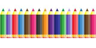 άνευ ραφής υπόβαθρο σχεδίων σχολικών μολυβιών χρώματος Στοκ εικόνες με δικαίωμα ελεύθερης χρήσης