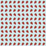 Άνευ ραφής υπόβαθρο σχεδίων φραουλών Στοκ Εικόνα