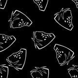 Άνευ ραφής υπόβαθρο σχεδίων φραουλών Στοκ φωτογραφία με δικαίωμα ελεύθερης χρήσης