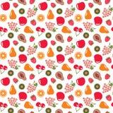 Άνευ ραφής υπόβαθρο σχεδίων φρούτων Στοκ Εικόνες