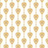 Άνευ ραφής υπόβαθρο σύστασης καρδιών σχεδίων βαλεντίνων Στοκ Εικόνες