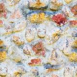 Άνευ ραφής υπόβαθρο της παλαιάς φωτογραφίας σύστασης τοίχων πετρών Ζωηρόχρωμος παλαιός τοίχος πετρών Στοκ Φωτογραφία