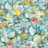 Άνευ ραφής υπόβαθρο της παλαιάς φωτογραφίας σύστασης τοίχων πετρών Ζωηρόχρωμος παλαιός τοίχος πετρών Στοκ Εικόνες