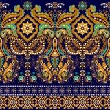 Άνευ ραφής υπόβαθρο του Paisley, floral σχέδιο Ζωηρόχρωμος διακοσμητικός Ινδική διακόσμηση συνόρων Στοκ φωτογραφία με δικαίωμα ελεύθερης χρήσης