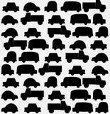 Άνευ ραφής υπόβαθρο των μαύρων αυτοκινήτων Στοκ Φωτογραφία