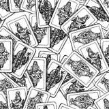 Άνευ ραφής υπόβαθρο των παλαιών καρτών παιχνιδιού Στοκ Φωτογραφίες