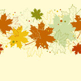 Άνευ ραφής υπόβαθρο των φύλλων σφενδάμου φθινοπώρου Στοκ Εικόνες