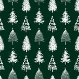 Άνευ ραφής υπόβαθρο των χριστουγεννιάτικων δέντρων απεικόνιση αποθεμάτων