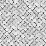 Άνευ ραφής υπόβαθρο φιαγμένο από διαγώνιους τακτοποιημένους κύβους στις σκιές του λευκού Στοκ Εικόνες
