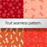 Άνευ ραφής υπόβαθρο φρούτων Στοκ Εικόνες