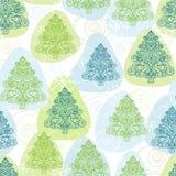Άνευ ραφής υπόβαθρο, χειμερινά fir-trees, δάσος Χριστουγέννων Στοκ Εικόνες