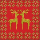Άνευ ραφής υπόβαθρο Χριστουγέννων και χειμώνα Στοκ εικόνα με δικαίωμα ελεύθερης χρήσης
