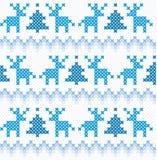 Άνευ ραφής υπόβαθρο Χριστουγέννων και χειμώνα Στοκ Εικόνες