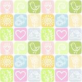 Άνευ ραφής υπόβαθρο χρώματος μια διακόσμηση με τα στοιχεία φύσης ελεύθερη απεικόνιση δικαιώματος