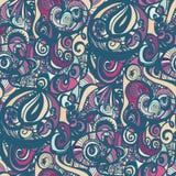 Άνευ ραφής υπόβαθρο χρώματος Doodle επίσης corel σύρετε το διάνυσμα απεικόνισης Στοκ Εικόνες