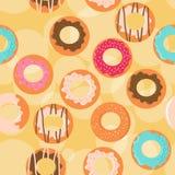 Άνευ ραφής υπόβαθρο donuts Στοκ Φωτογραφίες
