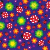 Άνευ ραφής υπόβαθρο ladybug Στοκ εικόνα με δικαίωμα ελεύθερης χρήσης