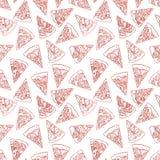 Άνευ ραφής φέτες πιτσών διανυσματική απεικόνιση