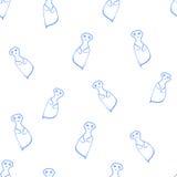 Άνευ ραφής φαντάσματα σχεδίων Στοκ εικόνες με δικαίωμα ελεύθερης χρήσης