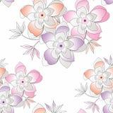 Άνευ ραφής φανταχτερή διανυσματική ανασκόπηση λουλουδιών Στοκ εικόνες με δικαίωμα ελεύθερης χρήσης