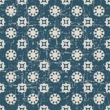 Άνευ ραφής φθαρμένη παλαιά γεωμετρία λουλουδιών υποβάθρου 053_round Στοκ εικόνες με δικαίωμα ελεύθερης χρήσης