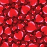 Άνευ ραφής φοβιτσιάρες σχέδιο καρδιών Στοκ Εικόνες