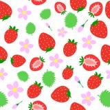 άνευ ραφής φράουλα Στοκ Εικόνες
