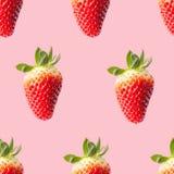 άνευ ραφής φράουλες προτύ Στοκ Εικόνες