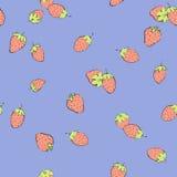 άνευ ραφής φράουλα ανασκόπησης ελεύθερη απεικόνιση δικαιώματος