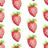 άνευ ραφής φράουλα προτύπ&omega διανυσματική απεικόνιση
