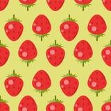 άνευ ραφής φράουλα προτύπ&omega Στοκ Εικόνες
