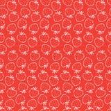 άνευ ραφής φράουλα προτύπ&omega στοκ φωτογραφία