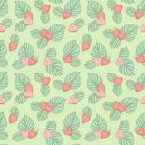 άνευ ραφής φράουλα Στοκ Φωτογραφία