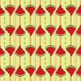 Άνευ ραφής φρέσκο καρπούζι σχεδίων Στοκ εικόνα με δικαίωμα ελεύθερης χρήσης