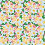 Άνευ ραφής φωτεινά λουλούδια σχεδίων ελεύθερη απεικόνιση δικαιώματος