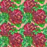 Άνευ ραφής φωτεινό αφηρημένο σχέδιο με τα τριαντάφυλλα κρύβοντας διάνυσμα φιδιών εικόνων λαβυρίνθου κυνηγιού Στοκ Φωτογραφία