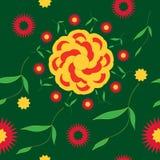 Άνευ ραφής φωτεινό θερινό λουλούδι σχεδίων διανυσματική απεικόνιση