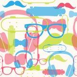 Άνευ ραφής φωτεινό σχέδιο hipster στοκ φωτογραφία με δικαίωμα ελεύθερης χρήσης