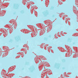 Άνευ ραφής φύλλα βρόχων Doodle Στοκ φωτογραφία με δικαίωμα ελεύθερης χρήσης