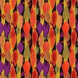 Άνευ ραφής φύλλα φθινοπώρου σχεδίων υποβάθρου και απεικόνιση μούρων Στοκ φωτογραφίες με δικαίωμα ελεύθερης χρήσης