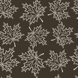 Άνευ ραφής φύλλο σφενδάμου σχεδίων Στοκ Εικόνες