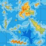 Άνευ ραφής χάρτης χρώματος της μπλε θάλασσας Στοκ Εικόνες