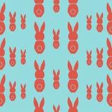 Άνευ ραφής χαιρετισμός Πάσχας σχεδίων με τα λαγουδάκια Στοκ φωτογραφία με δικαίωμα ελεύθερης χρήσης