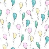 Άνευ ραφής χαριτωμένο σχέδιο με τα μπαλόνια κινούμενων σχεδίων Στοκ φωτογραφίες με δικαίωμα ελεύθερης χρήσης
